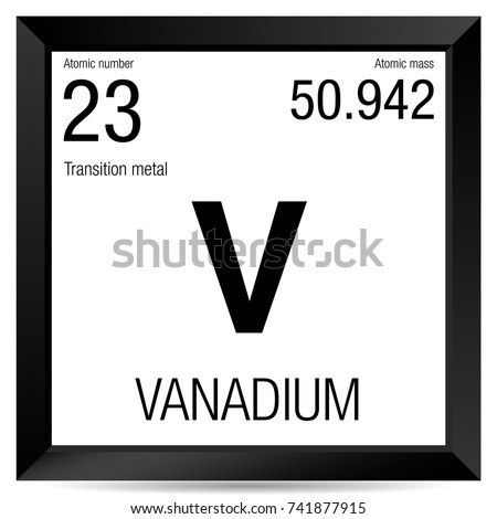 Vanadium stock images royalty free images vectors - Vanadium symbol periodic table ...