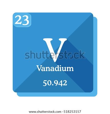 Vanadium v element periodic table flat stock vector 518253157 vanadium v element of the periodic table flat icon with long shadow urtaz Gallery
