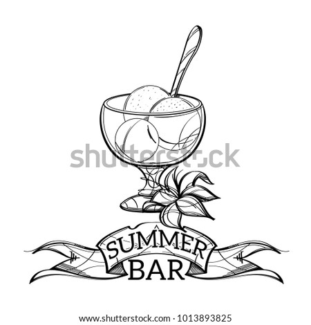Ice Cream Bowl Outline Stock Images Royalty Free Images