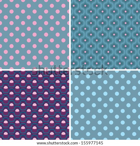Variants of seamless patterns. Vector patterns in black and white tones - stock vector