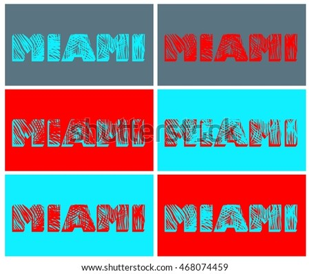 Variation with Miami print
