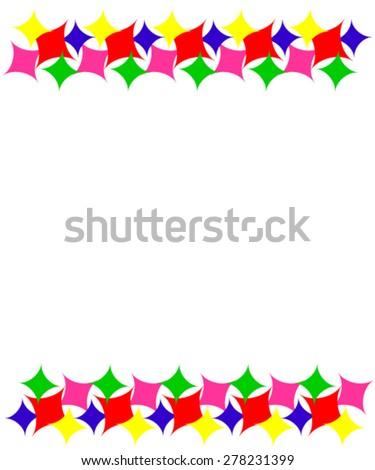 Varicolored border. - stock vector