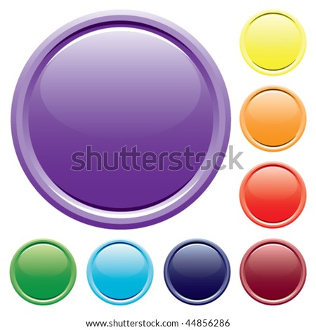 Varicolored buttons. Vector.