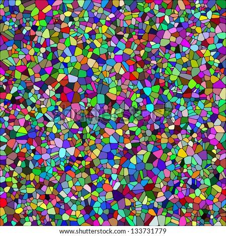 Varicolored mosaic background. Vector illustration. - stock vector