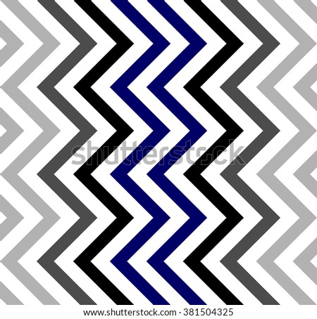 Varicolored zigzag pattern for decoration and background, for motifs of symmetry, synergy, predictability