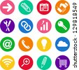 Varied colorful iconset - stock vector