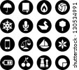 Varied iconset - stock vector