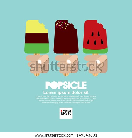 Variety Popsicle in Hand.EPS10 - stock vector