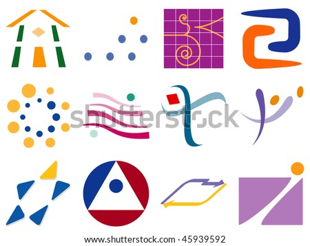 Various Abstract Vector Logo Icon Design Element Set