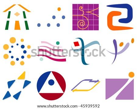 Various Abstract Vector Logo Icon Design Element Set - stock vector