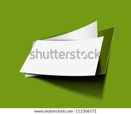 various blank sheet of paper page with curl realistic looking. - stock vector