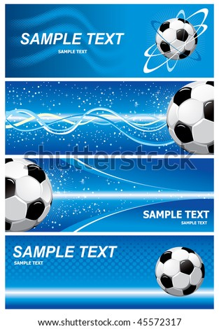 Various blue soccer background. Vector. - stock vector