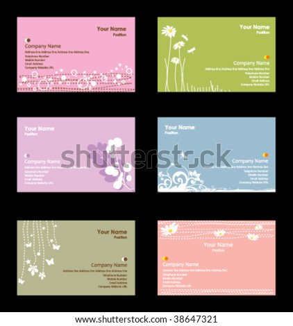 Various business cards - stock vector