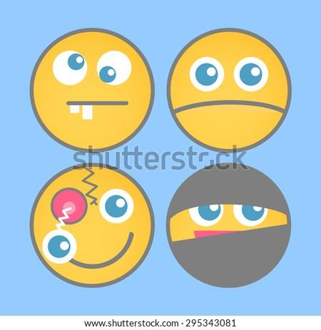 Various Cartoon Emoticons Vector - stock vector
