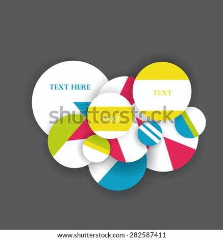 Various circles in retro colors, vector design - stock vector