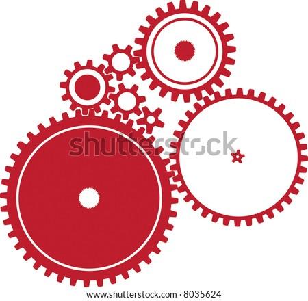 Various cogwheels - stock vector