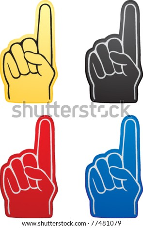 Various colored fan hands - stock vector