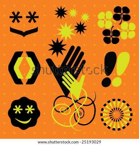 Various design elements - stock vector