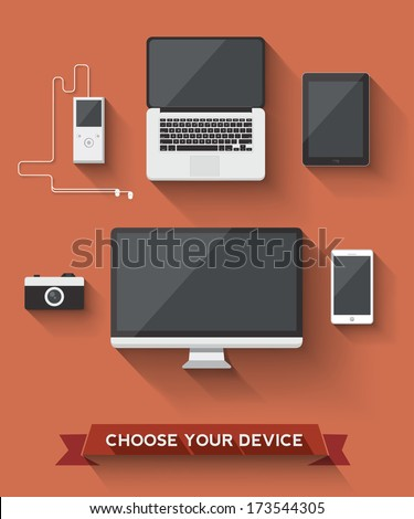 Various device icon to choose your favorite. - stock vector