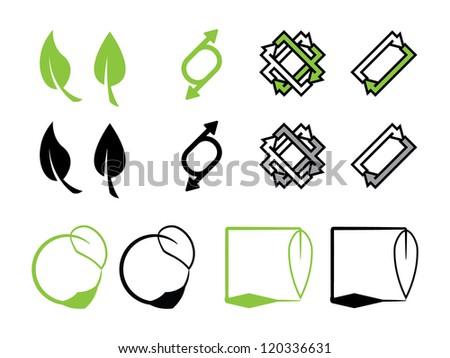 Various Environmental Icons. - stock vector