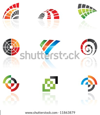 Various logos to go with your company name - stock vector