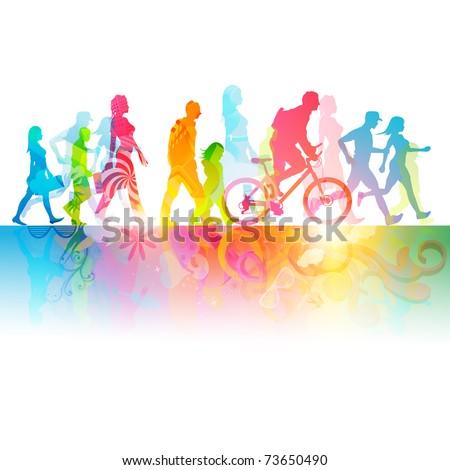 Various Modern People -  vector Illustration. - stock vector