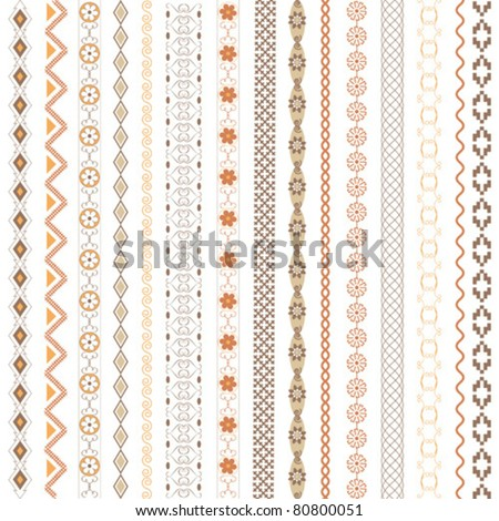 Various motifs colored - stock vector