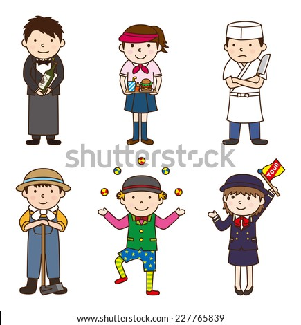 Various occupations / set 6 - stock vector