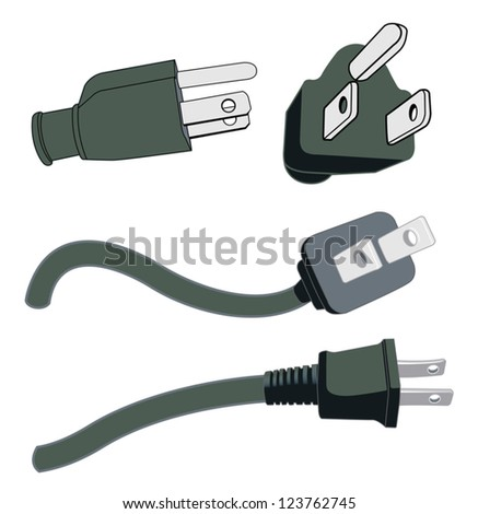 Various Power Plugs - stock vector