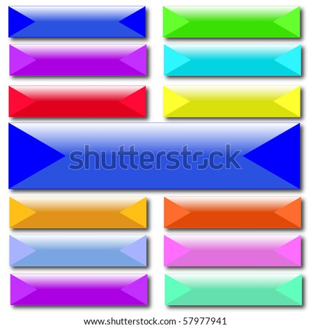 Various rectangle button vector - stock vector