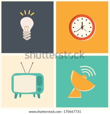 Various Retro Object - stock vector