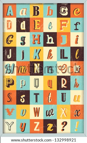 Various Retro Vintage Typography Collection. For High Quality Graphic Projects - stock vector