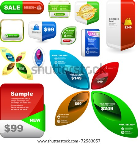 Various sale design elements - stock vector