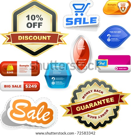 Various sale design elements. Great collection. - stock vector