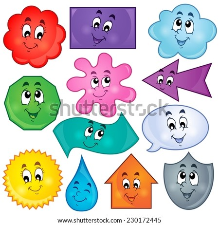 Various shapes theme image 3 - eps10 vector illustration. - stock vector