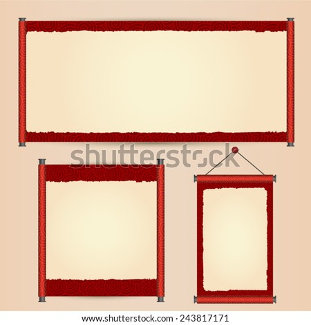 Various Size Traditional Chinese Scroll Stock Photo (Photo, Vector ...