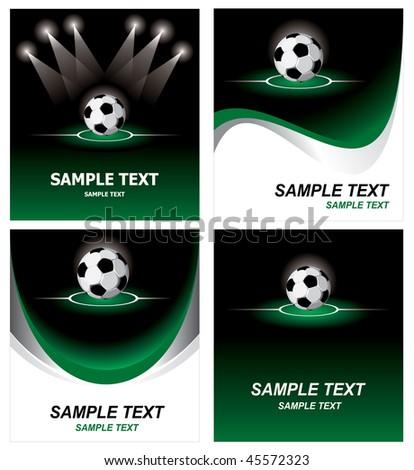 Various soccer background. Vector. - stock vector
