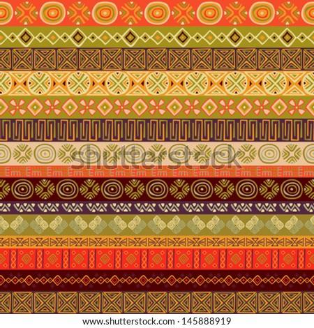 Various strips motifs - stock vector
