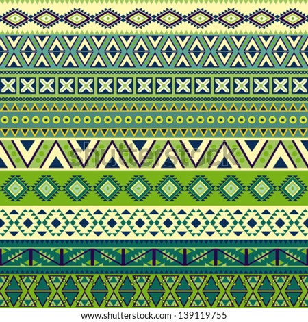 Various strips motifs in different color - stock vector
