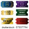 Various ticket set of six - stock vector