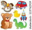 Various toys collection 1 - vector illustration. - stock vector