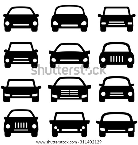 Various types of cars and autos - stock vector