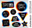 Various Vector Labels in CMYK like style. Useful Logo Symbols.