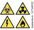 various warning signs - stock photo