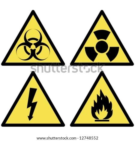 various warning signs - stock vector