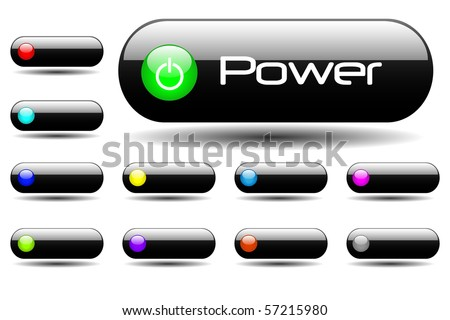 Various web buttons - stock vector