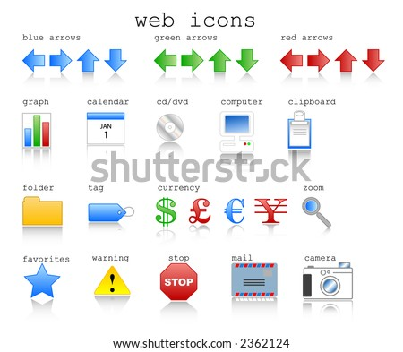 Various web icons in vector format with internet theme. - stock vector