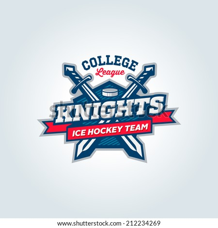 Varsity, college, school league sport team logo concept, apparel design - stock vector