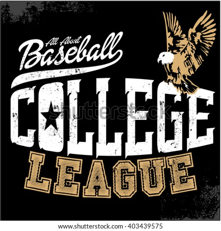 Varsity college vector label and sporty graphic design.