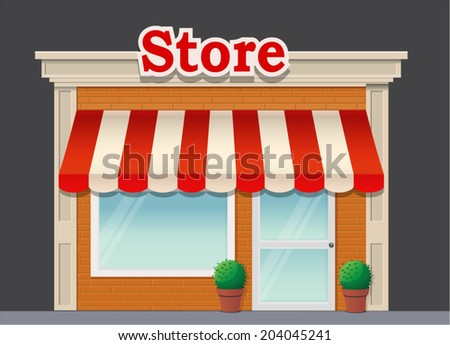 Vecor illustration of store house - stock vector